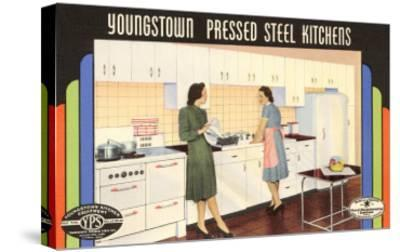 Youngstown Pressed Steel Kitchens--Stretched Canvas Print