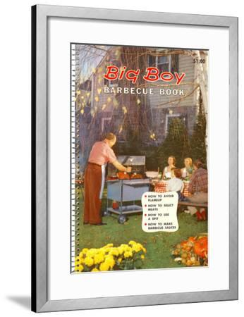Big Boy Barbecue Book, Book Cover--Framed Art Print