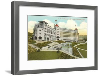 CPR Chateau, Lake Louise, Canadian Rockies--Framed Art Print