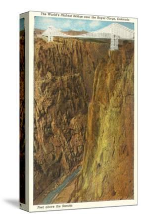 Royal Gorge Bridge, Colorado--Stretched Canvas Print