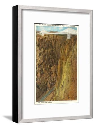 Royal Gorge Bridge, Colorado--Framed Art Print