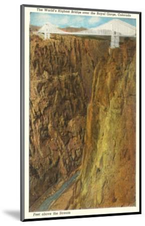 Royal Gorge Bridge, Colorado--Mounted Art Print