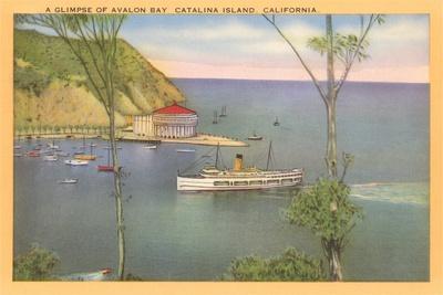 Avalon Bay, Catalina, California--Stretched Canvas Print