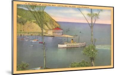 Avalon Bay, Catalina, California--Mounted Art Print