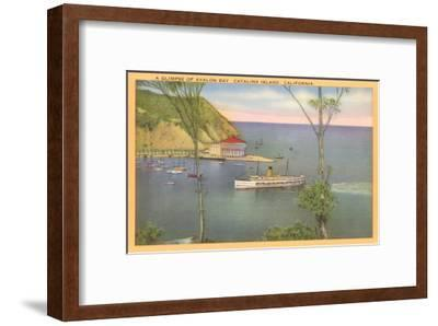 Avalon Bay, Catalina, California--Framed Art Print
