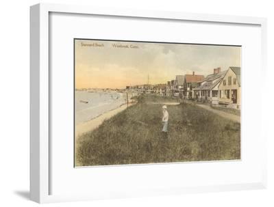 Stannard Beach, Westbrook, Connecticut--Framed Art Print