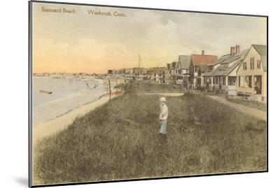Stannard Beach, Westbrook, Connecticut--Mounted Art Print