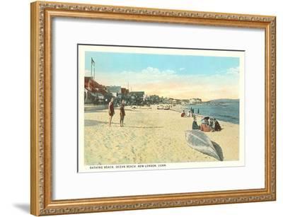 Ocean Beach, New London, Connecticut--Framed Art Print