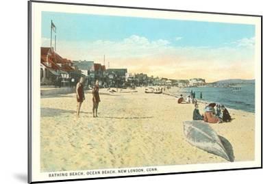 Ocean Beach, New London, Connecticut--Mounted Art Print