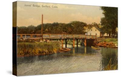Jones' Bridge, Guilford, Connecticut--Stretched Canvas Print