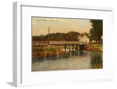 Jones' Bridge, Guilford, Connecticut--Framed Art Print