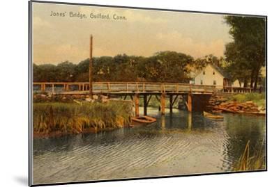 Jones' Bridge, Guilford, Connecticut--Mounted Art Print