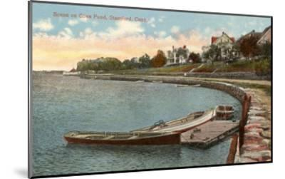 Cove Pond, Stamford, Connecticut--Mounted Art Print