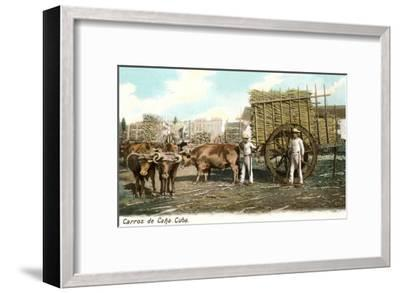 Sugar Cane Cart, Cuba--Framed Art Print