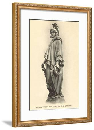 Armed Freedom, Capitol Dome, Washington D.C.--Framed Art Print