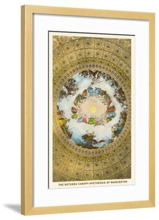 Rotunda Canopy, Capitol, Washington D.C.--Framed Art Print