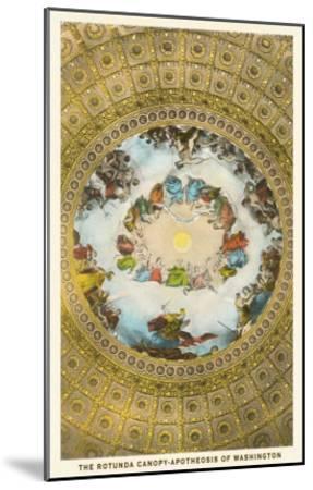 Rotunda Canopy, Capitol, Washington D.C.--Mounted Art Print