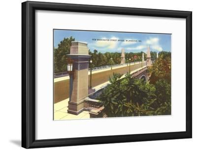 Washington Street Bridge, Wilmington, Delaware--Framed Art Print