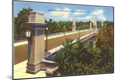 Washington Street Bridge, Wilmington, Delaware--Mounted Art Print