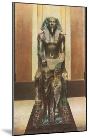 Pharaoh Statue in Cairo Museum, Egypt--Mounted Art Print