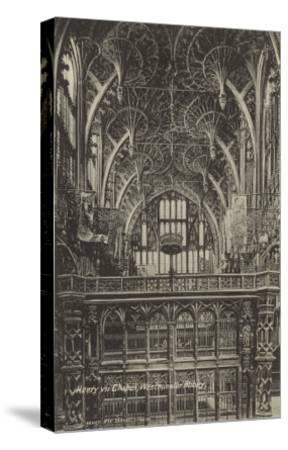 Henry VII Chapel, Westminster Abbey, London, England--Stretched Canvas Print