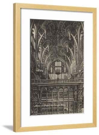 Henry VII Chapel, Westminster Abbey, London, England--Framed Art Print