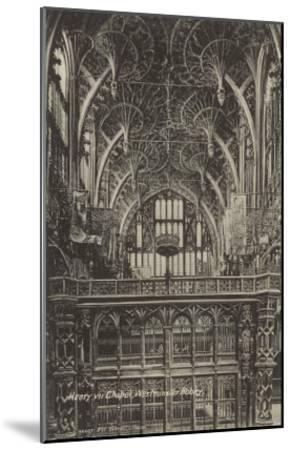 Henry VII Chapel, Westminster Abbey, London, England--Mounted Art Print
