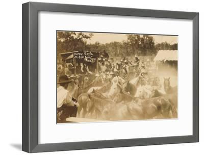 Horse Sale, Miles City, Montana--Framed Art Print