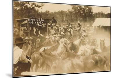 Horse Sale, Miles City, Montana--Mounted Art Print