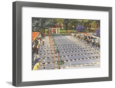 Shufffleboard, St. Petersburg, Florida--Framed Art Print