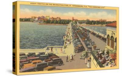 Pier, St. Petersburg, Florida--Stretched Canvas Print