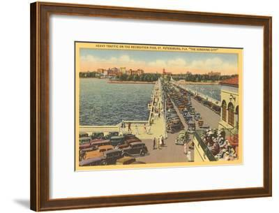 Pier, St. Petersburg, Florida--Framed Art Print