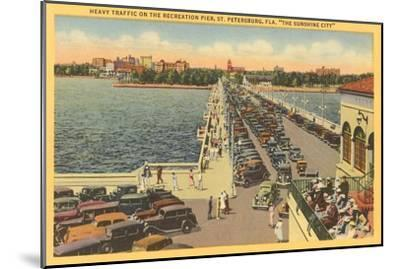 Pier, St. Petersburg, Florida--Mounted Art Print
