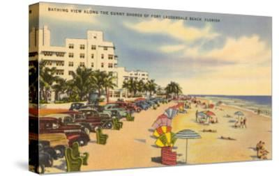 Beach, Ft. Lauderdale, Florida--Stretched Canvas Print