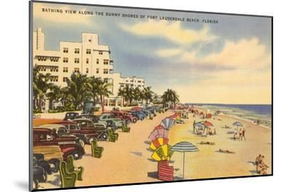 Beach, Ft. Lauderdale, Florida--Mounted Art Print