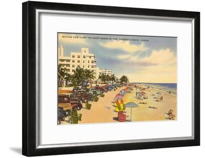 Beach, Ft. Lauderdale, Florida--Framed Art Print