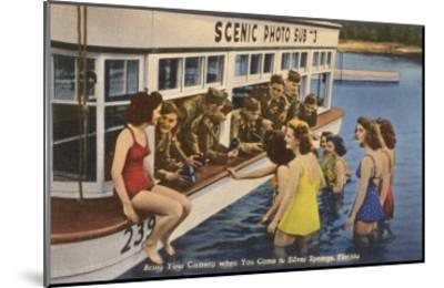 Servicemen, Bathing Girls, Silver Springs, Florida--Mounted Art Print