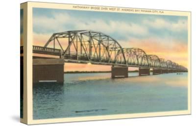 Hathaway Bridge, Panama City, Florida--Stretched Canvas Print
