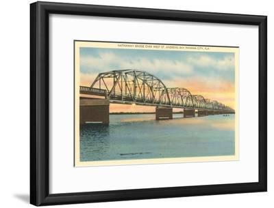 Hathaway Bridge, Panama City, Florida--Framed Art Print