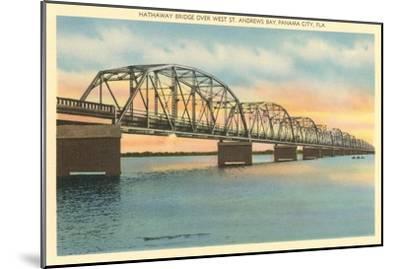 Hathaway Bridge, Panama City, Florida--Mounted Art Print