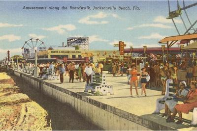 Boardwalk, Jacksonville, Florida--Stretched Canvas Print