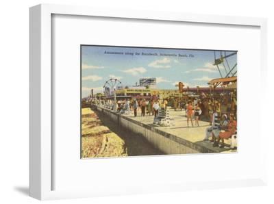 Boardwalk, Jacksonville, Florida--Framed Art Print