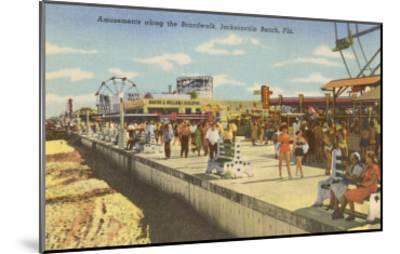 Boardwalk, Jacksonville, Florida--Mounted Art Print