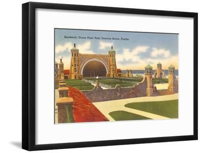 Band Shell, Daytona Beach, Florida--Framed Art Print