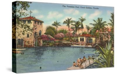 Venetian Poll, Coral Gables, Florida--Stretched Canvas Print