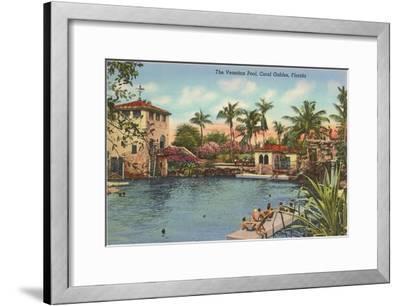 Venetian Poll, Coral Gables, Florida--Framed Art Print