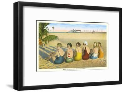 Ladies on Beach, Florida--Framed Art Print