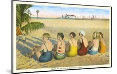 Ladies on Beach, Florida--Mounted Art Print