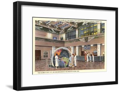 Globe at Airport, Miami, Florida--Framed Art Print