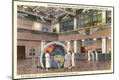Globe at Airport, Miami, Florida--Mounted Art Print